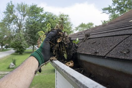 Richard cleaning gutters